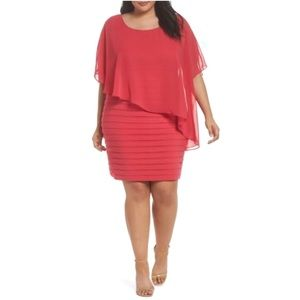 Adrianna Papell Chiffon Overlay Sheath Dress